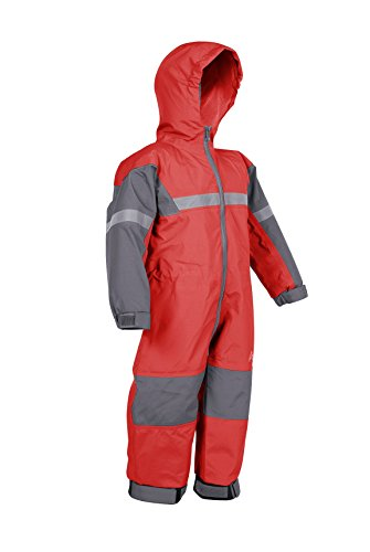 Oakiwear Childrens' One-Piece Waterproof Trail Rainsuit (8/9, Red) (One Piece Pant Suit)