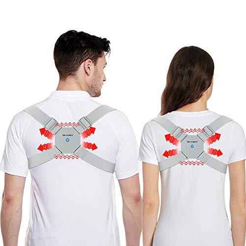 Smart Posture Corrector, Dr. Comfy Electronic Back Relief Correction with Sensor Vibration Reminder Adjustable Back Brace, Providing Pain Relief from Neck, Back and Shoulder for Men, Women and Kids