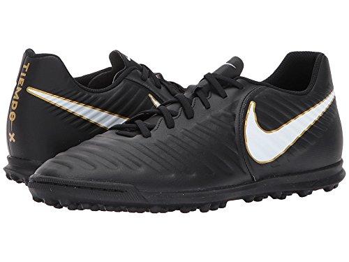 Nike Tiempox Rio IV TF, Botas de Fútbol Para Hombre, Negro (Black/White/Black 002), 49.5 EU