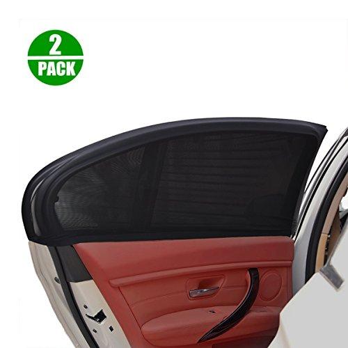2 PCS Pare-Soleil Pour Vitre ELUTO Auto Fenêtre Latérale Parasol Universel  Pliable Protection UV 9632f0e4e06e
