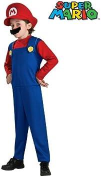 Desconocido Disfraz de Mario (Super Mario Bros) para niño (4 a 6 ...