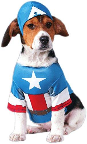 Rubie's Marvel Universe Captain America Pet Costume, Medium ()
