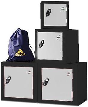 Single Compartment Cube Locker Ref LK1S//21//SV//BK Silver Door//Black Body - Choice of Size /& Colour