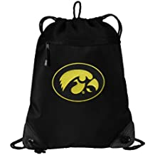 Iowa Hawkeyes Drawstring Bag University of Iowa Cinch Pack Backpack UNIQUE MESH & MICROFIBER