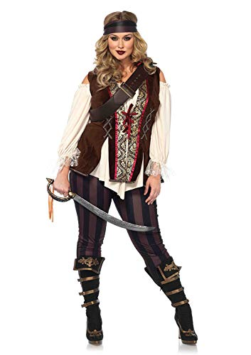 Leg Avenue Women's Plus Size Captain Blackheart Costume, Multi, 1X / ()