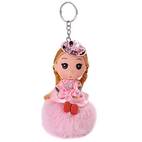 Key Chain Keyring Hanging Buckle Pretty Wedding Dress Doll Princess Pendant Car Bag Accessory from RARITYUS