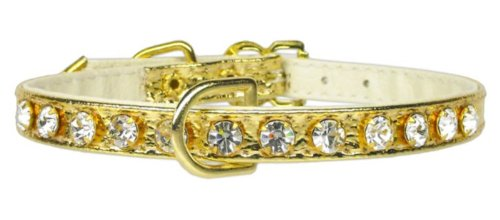 Mirage Pet Products No.16 Dog Collar, 10-Inch, Gold