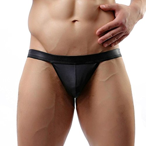 Clearance Sale! Men's Lingerie WEUIE Mens Hot Sexy Men's Thongs G-String Underwear Leather Jockstrap Trunks (XL, - Designer Mens Clearance