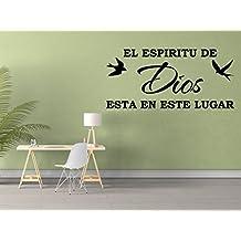 Vinilo Decorativo Para Pared El Espiritu De Dios Esta En Este Lugar