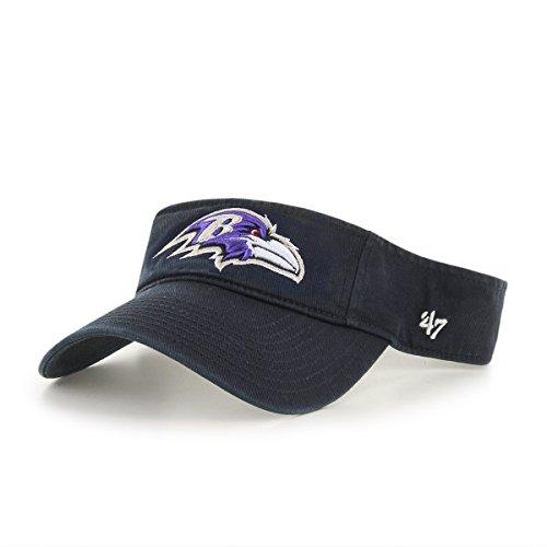 '47 NFL Baltimore Ravens Clean Up Adjustable Visor, Black, One Size