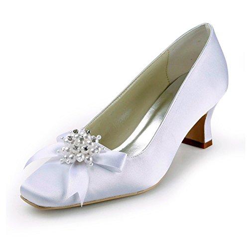 6 Minitoo Heel femme pour White 5cm Escarpins SZq0IA