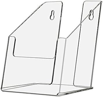 "Lot of 40 Slant Back Counter Top Wall Mount Brochure Holder 4/"" wide Tri Fold"