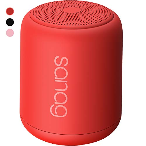 Bluetooth Speaker,Portable Wireless Bluetooth Speakers with Loud HD Sound and Rich Bass,IPX5 Waterproof,Handsfree Call,TF Card Support,Built-in-Mic,for Phones,Tablets,Computer and More (Red)