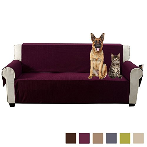 Xl Recliner (Aidear Anti-Slip Sofa Slipcovers Jacquard Fabric Pet Dog Couch Covers Protectors (Sofa: Oversized, Burgundy))