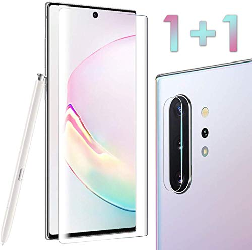 Tempered Glass Screen Protector for Galaxy Note 10 Plus 6.8 inches, Include a Camera Lens Protector, 100% Touch Responsive, Case Friendly, Full Coverage, HD Clear (Best Galaxy Note 3 Accessories)