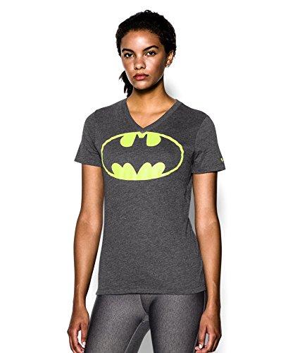Under Armour Women's UA Batgirl Short Sleeve V-Neck Extra Large Black
