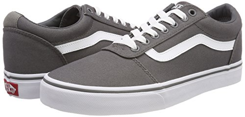 canvas white Basses Gris Vans Ward Pewter 4wv Sneakers Homme Canvas cYq1Hg1w7