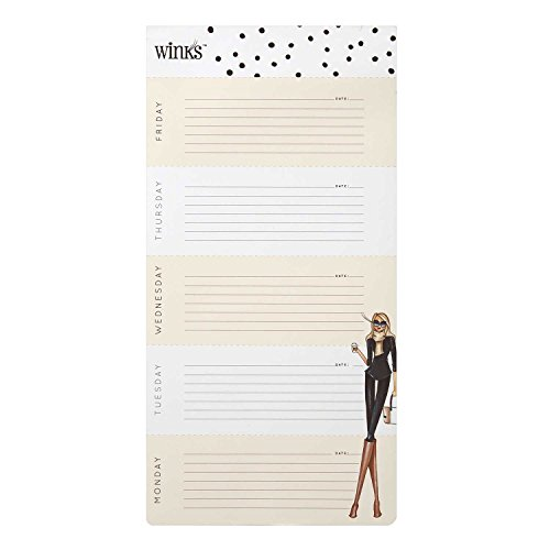 "C.R. Gibson Big Weekly To-Do List Pad by Winks, 7"" W x 14"" H - Coffee Lover"
