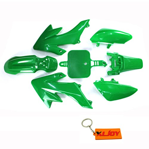 XLJOY Green Fairing Plastic Body Kits For CRF50 XR50 Piranha Pitsterpro Pit Dirt Bike (Body Plastic Fairing)