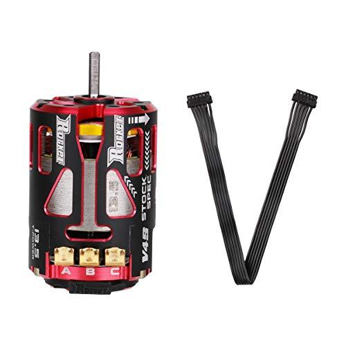 (RCRunning 540 13.5T 3.175mm Shaft Sensored Brushless Motor Racerstar V4S Rocket Stock Spec Brushless 2 Sensor for 1/10 RC Racing Car)