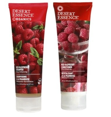 Desert Essence Red Raspberry Shampoo and Conditioner Bundle With Aloe Leaf Juice, Jojoba, Vitamin B-5 and Shea Butter, 8 fl. oz. and 8 fl. oz. Each - Red Organic Conditioner