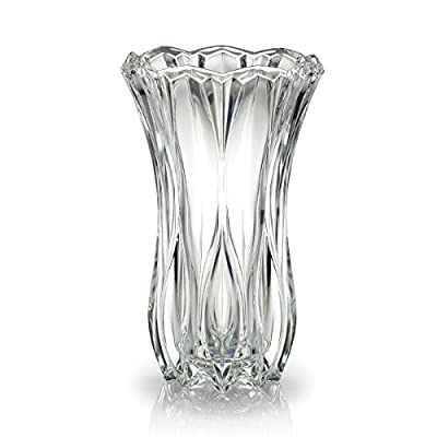 Celebrations by Mikasa Blossom Crystal Vase, 12-Inch - This vase provides both traditional and contemporary decor to your home 12-Inch crystal vase Beautifully crafted crystal - vases, kitchen-dining-room-decor, kitchen-dining-room - 419IWp46J2L. SS400  -