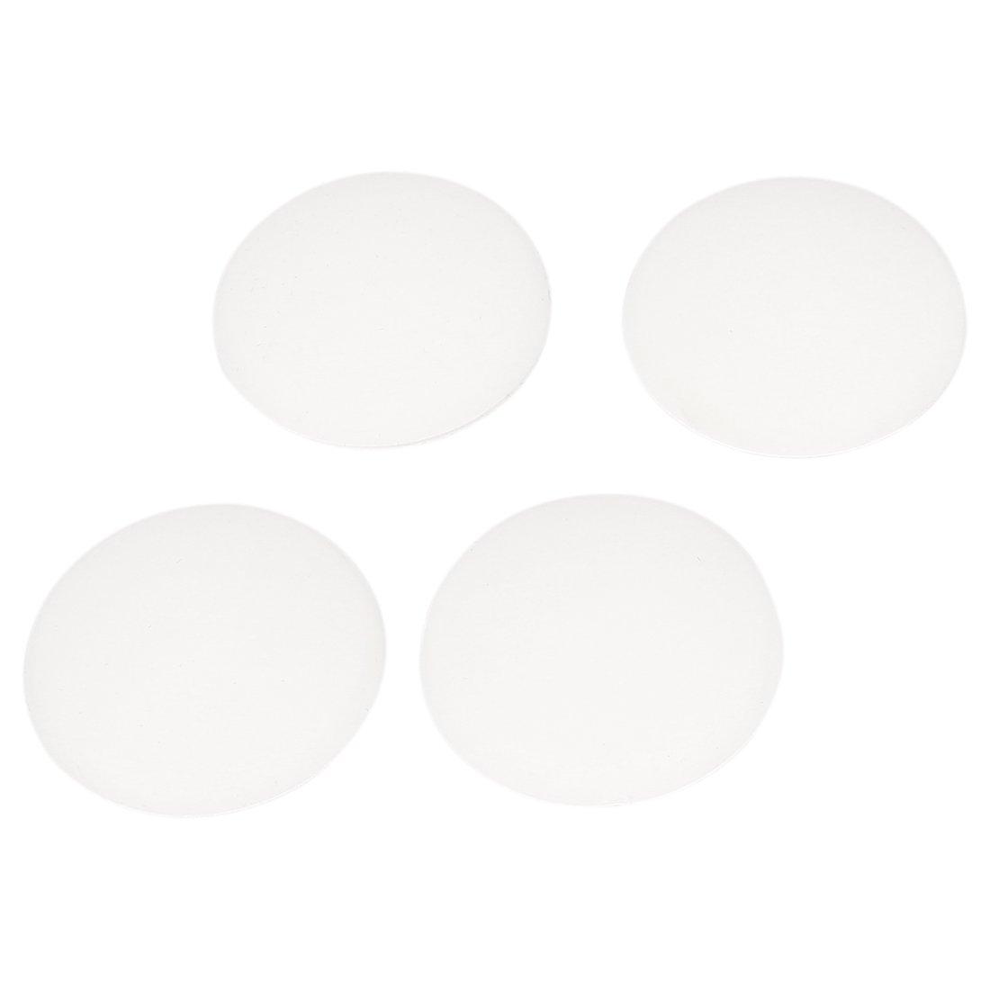 Protecteur de buté e de pare-chocs de poigné e de porte de garde de mur adhé sif en caoutchouc blanc 4 Pcs sourcing map US-SA-AJD-109919