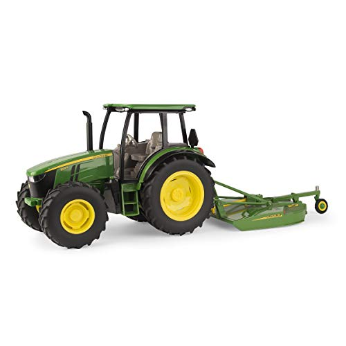 Deere Diecast John Tractor (John Deere 1/16 5125R with MX7 Rotary Cutter)