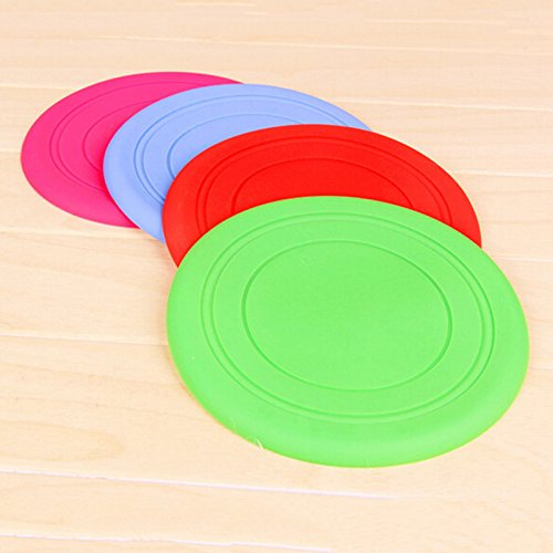 Zrong Dogs Soft Flying Disc Frisbee Training Fetch Toy Dog Catcher Play Chew Toys Random Color