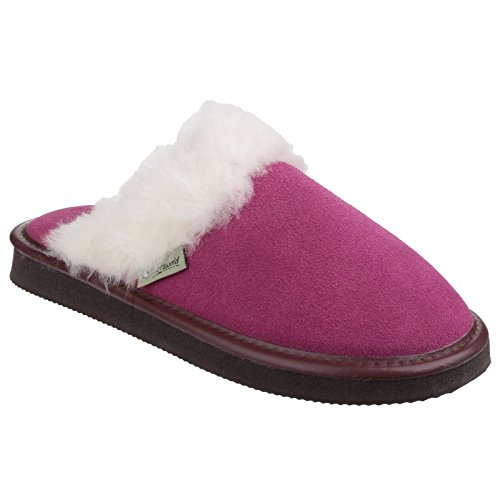 Radway Ladies Fur Trim Lightweight Mule Slipper Cotswold Womens Blue qwTvEE6