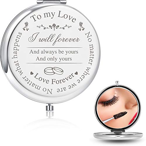 Blulu Designed Gifts for Wife Makeup Mirror, To My Love Gift for -