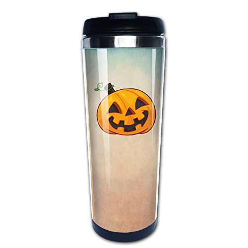 Boomy Funny Halloween Pumpkin Stainless Steel Coffee Mug For Indoor & Outdoor Office School Gym Use