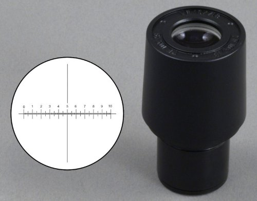 OMAX WF10X/18 Eyepiece with Reticle for Microscope 23.2mm