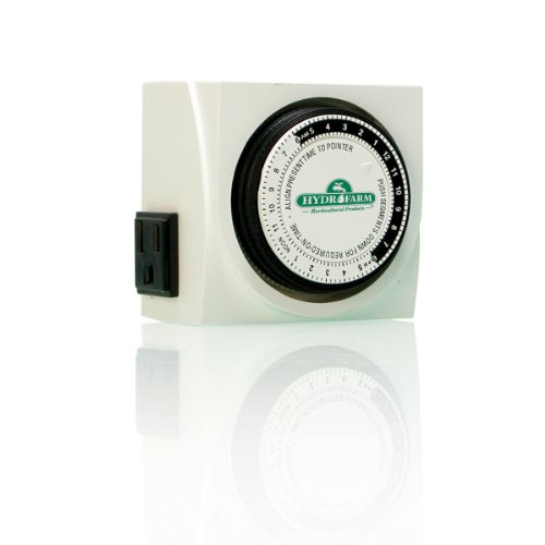 AutoPilot Analog, UL-Listed Hydrofarm TM01015D Dual Outlet Grounded Timer, ()