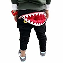 Kids Pants, Franterd Children Boys Girls Zipper Shark Teeth Harem Trousers