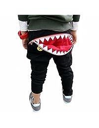 Kids Pants, Franterd Children Boys Girls Zipper Shark Teeth Harem Trousers