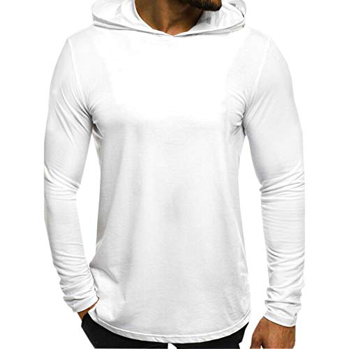 iYYVV Mens Autumn Casual Long Sleeve Letter Printed Slim Fit Hoodies Shirt Tops (Korn Printed T-shirts)