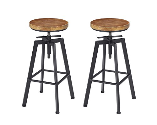 VILAVITA Bar Stools Set of 2, Swivel Counter Height Bar Chair - 24.8