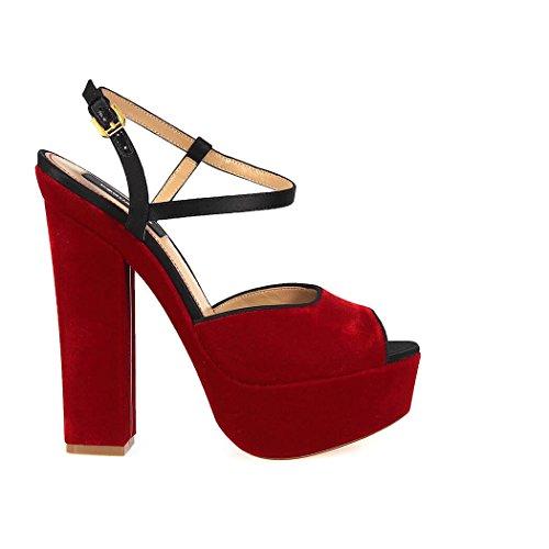 Donne Dsquared2 Ziggy Sandali In Velluto Rosso