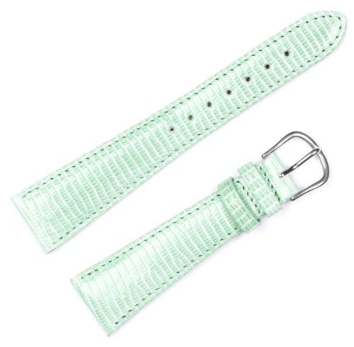 10 Watch Mm Band (Genuine Lizard Watchband Aqua 10mm Watch band - by deBeer)