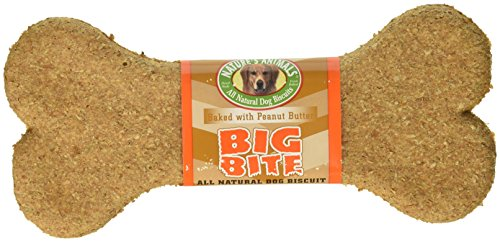 Nature`s Animals Inc. Big Bite Crunchy Peanut Butter Biscuits 8 Inch - 24 Count