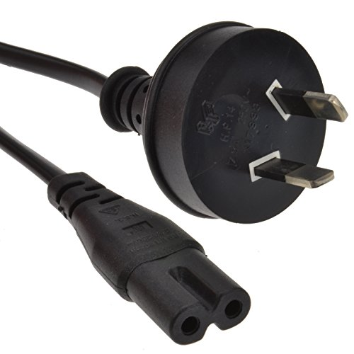 Kenable Figure of Eight Fig 8 C7 Plug to New Zealand Australia Power Cord 2m (~6 feet)