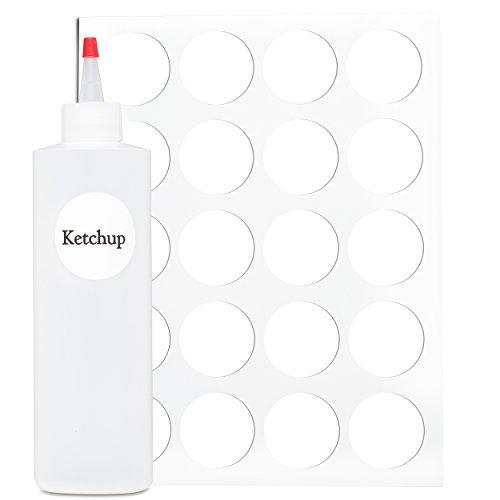 Squeeze Bottle Labels - 40 Waterproof Blank Fifo Bottle Labels