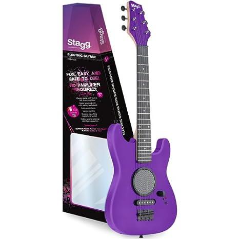 Stagg 1/2 tamaño niños guitarra eléctrica con amplificador, color morado: Amazon.es: Amazon.es