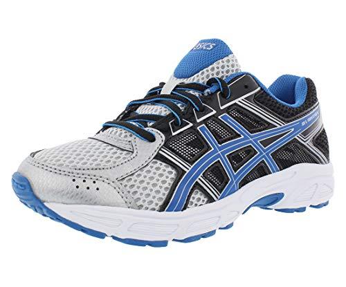 ASICS Boys' Gel-Contend 4 GS Running Shoe, Silver/Classic Blue/Black, 6.5 M US Big -