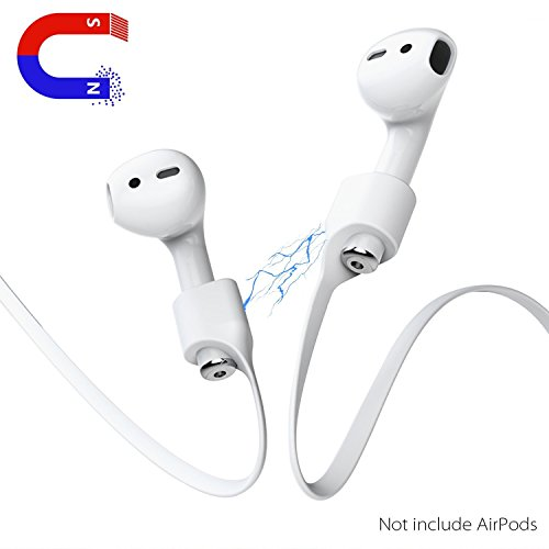 Stouch Airpods Strap, Airpods Magnetic Strap iPhone 7 / iPhone 7 Plus AirPods Sports Strap Wire Cable Connector for Apple Airpods, Like a Necklace with Your AirPods.