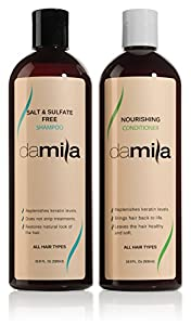 11. Salt & Sulfate-Free Shampoo and Nourishing Conditioner - Keratin Complex. For Daily Use