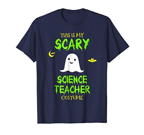Mens Scary Science Teacher Costume Halloween T-Shirt 2XL Navy