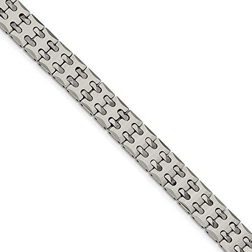 Tungstène poli Bracelet lien-JewelryWeb - 22 cm