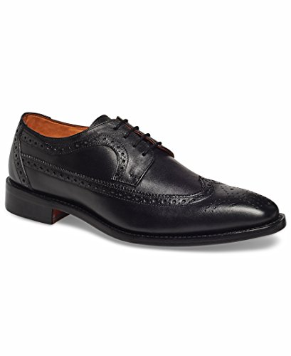 Anthony Veer Mens Regan Oxford Full Brogue Leather Shoes in Goodyear Welted Construction (7 D, Black) - Black Brogue